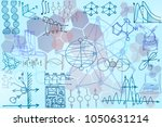 vector pattern with sketch... | Shutterstock .eps vector #1050631214