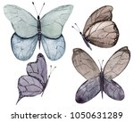 watercolor butterfly   isolated ... | Shutterstock . vector #1050631289