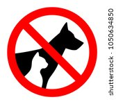 prohibition sign stop pet dog... | Shutterstock .eps vector #1050634850
