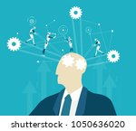 abstract thinking businessmen... | Shutterstock .eps vector #1050636020