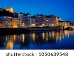 view of lyon with saone river... | Shutterstock . vector #1050639548