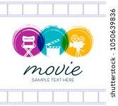 abstract cinema poster design... | Shutterstock .eps vector #1050639836