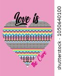 love is the cure t shirt print... | Shutterstock .eps vector #1050640100