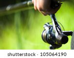 background with a fisherman... | Shutterstock . vector #105064190