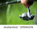 background with a fisherman... | Shutterstock . vector #105064196