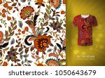 seamless floral background.... | Shutterstock .eps vector #1050643679
