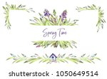 hand painted frames set with... | Shutterstock . vector #1050649514