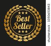 best seller label on black... | Shutterstock .eps vector #1050653843