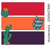 cactus home nature card vector... | Shutterstock .eps vector #1050657884