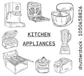 household appliances for the... | Shutterstock .eps vector #1050658826