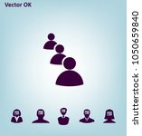 illustration of flat group of... | Shutterstock .eps vector #1050659840