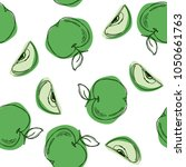 Green Apples Seamless Pattern...