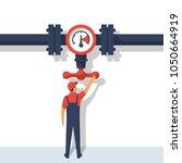 flow control. vector... | Shutterstock .eps vector #1050664919
