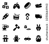 solid vector icon set   abc...   Shutterstock .eps vector #1050664943