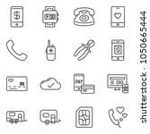thin line icon set   credit... | Shutterstock .eps vector #1050665444
