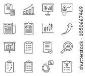 thin line icon set   clipboard... | Shutterstock .eps vector #1050667469