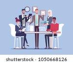 team business people working... | Shutterstock .eps vector #1050668126