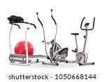 exercise machines isolated on... | Shutterstock . vector #1050668144