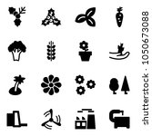 solid vector icon set   holly... | Shutterstock .eps vector #1050673088