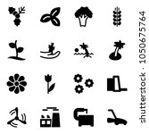 solid vector icon set   holly... | Shutterstock .eps vector #1050675764