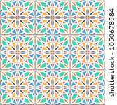 vector seamless pattern  based... | Shutterstock .eps vector #1050678584