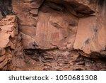 native american indian ruins... | Shutterstock . vector #1050681308