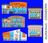shop facade vector icon set.... | Shutterstock .eps vector #1050682904