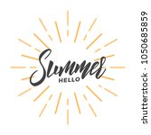 summer. brush lettering design... | Shutterstock .eps vector #1050685859