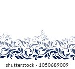 Floral seamless pattern. Lacy decorative border for background for fabric, wrapping, wallpaper, ribbon and paper. Delicate tape print.