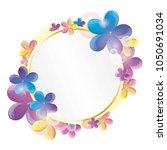 bright spring flowers greeting... | Shutterstock .eps vector #1050691034