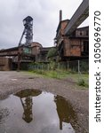 Small photo of Mirroring of the mining tower of the abolished mine Hlubina