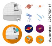 observatory with radio... | Shutterstock .eps vector #1050703469