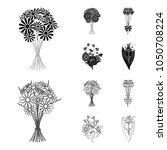 a bouquet of fresh flowers... | Shutterstock .eps vector #1050708224