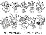 hand drawn vintage colorful... | Shutterstock .eps vector #1050710624