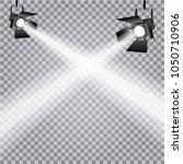 directed light spotlights on... | Shutterstock .eps vector #1050710906
