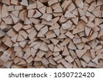material for heating the house. ... | Shutterstock . vector #1050722420