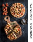 fresh and baked homemade...   Shutterstock . vector #1050723593