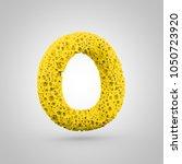 sponge letter o uppercase. 3d... | Shutterstock . vector #1050723920