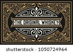 old  label design for whiskey... | Shutterstock .eps vector #1050724964