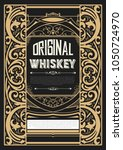 whiskey label with old... | Shutterstock .eps vector #1050724970