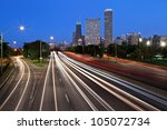 chicago lake shore drive. image ... | Shutterstock . vector #105072734