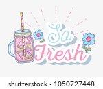 so fresh summer juice | Shutterstock .eps vector #1050727448
