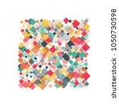 rhombus confetti minimal... | Shutterstock .eps vector #1050730598