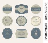 set of vintage premium label... | Shutterstock .eps vector #1050730670