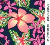 seamless pattern green bleeding ... | Shutterstock .eps vector #1050730808