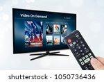 video on demand vod application ... | Shutterstock . vector #1050736436