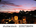 overview of slums at full moon... | Shutterstock . vector #1050738494