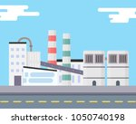 the industrial factory stands... | Shutterstock .eps vector #1050740198