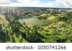 aerial view from the lake of... | Shutterstock . vector #1050741266