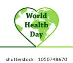 world health day. continents... | Shutterstock .eps vector #1050748670